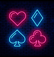 poker blackjack card suits vector image vector image