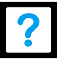 Question flat blue and white colors rounded button vector image
