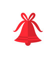 red bell decorated with bow vector image vector image