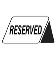 reserved icon on white background flat style vector image vector image