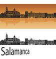 Salamanca skyline in orange vector image vector image