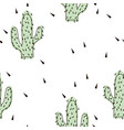seamless abstract modern green cactus pattern on vector image vector image