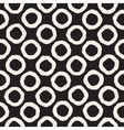 Seamless Black and White Hand Drawn Circles vector image