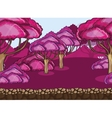 Seamless cartoon forest landscape vector image