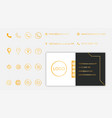 set business card contact information vector image vector image
