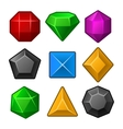 set multicolored gems for match3 games vector image vector image
