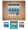 shop icon with related pictograms vector image vector image