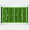 soccer field european football stadium court vector image vector image
