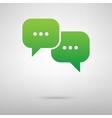 Speech bubble green icon vector image