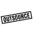 square grunge black outsource stamp vector image vector image