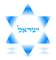 star of david icon vector image vector image