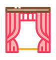 theatrical curtain outline vector image vector image
