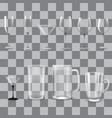 transparent empty glasses set vector image