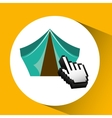 traveling concept technology camping design vector image vector image