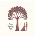 tree and couple vector image vector image