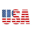 united states of america flag in the form vector image vector image