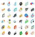 working device icons set isometric style vector image vector image