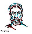 xenophanes portrait vector image vector image