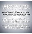 Glowing Neon Silver Alphabet vector image