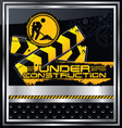 abstract under construction background vector image