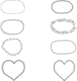 Set of black and white frames of different shapes vector image