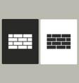 brick wall - icon vector image