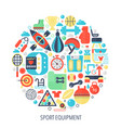 sport fitness equipment flat infographics icons in vector image