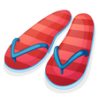 A pair of red slippers vector image vector image