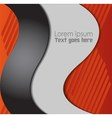 Abstract Orange black background vector image vector image