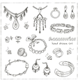 Accessories sketch icon set vector image vector image