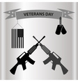 american veterans day celebration in grayscale vector image vector image