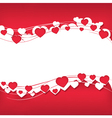 Background for text with hearts vector image vector image