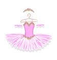 ballet tutu on a hanger vector image vector image