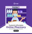 banner design medical pharmacist vector image