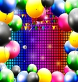 birthday background with balloon vector image vector image