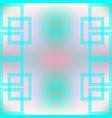blue pink elegance ornamental greek seamless vector image
