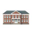 brick administrative building vector image vector image