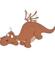 Brown dragon Cartoon vector image vector image