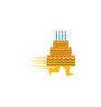 cake delivery logo design vector image vector image