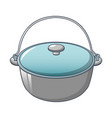 camping cauldron from metal icon cartoon style vector image