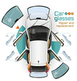 Car Glasses Repair and Replacement vector image vector image