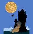 castle at night vector image vector image