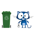 cat recycling vector image