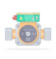 circulation pump realistic cartoon styl vector image vector image