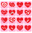 collection heart icon vector image