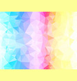 colorful light abstract triangle background vector image vector image