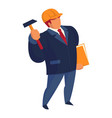 construction master icon cartoon style vector image vector image