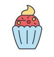 cupcake concept line icon editable stroke vector image vector image