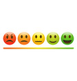 emotion feedback scale on white background vector image vector image