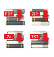 extension file icons vector image vector image